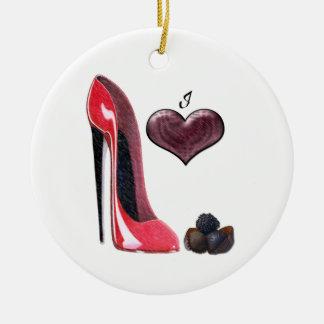 Zapato del estilete del amor y ornamento rojos de ornamentos de reyes