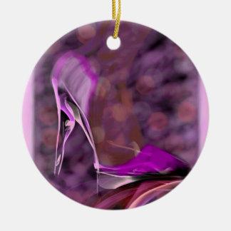 Zapato del tacón alto adornos de navidad