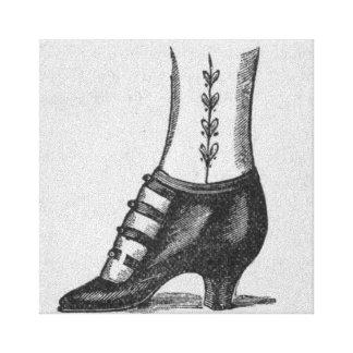 Zapato Impresiones De Lienzo