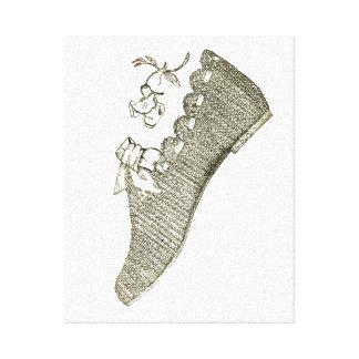 Zapato Impresiones En Lona Estiradas