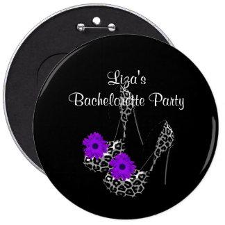 Zapato púrpura del leopardo del fiesta de Bachelor Pin