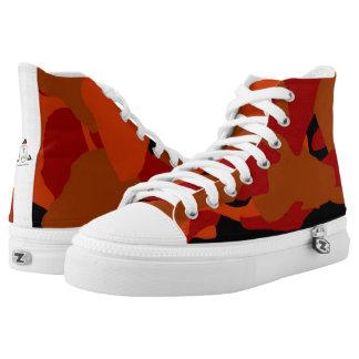 Zapato tenis roja del Hola-Top de Camo