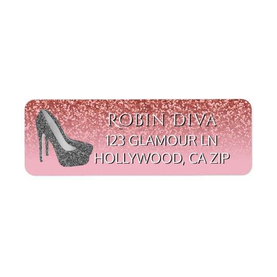 Zapatos atractivos femeninos del tacón alto del etiqueta de remitente