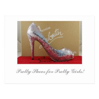 ¡Zapatos bonitos para los chicas bonitos! Postal