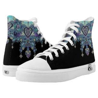 Zapatos célticos del top del alto del fractal de
