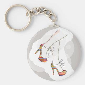 Zapatos coloridos de la moda llavero