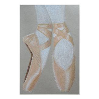 Zapatos de ballet de Pointe Arte Fotografico