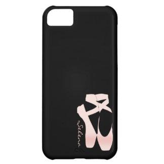 Zapatos de ballet suaves personalizados del rosa carcasa iPhone 5C