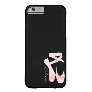 Zapatos de ballet suaves personalizados del rosa funda de iPhone 6 barely there