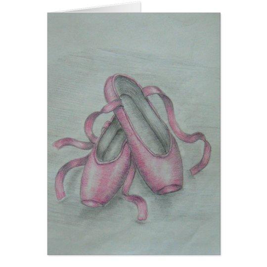 Zapatos de ballet tarjeta de felicitación