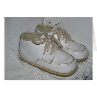 Zapatos de bebé del vintage Notecard Tarjeta Pequeña
