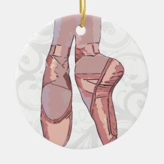 Zapatos de dedo del pie de los deslizadores del ba ornaments para arbol de navidad
