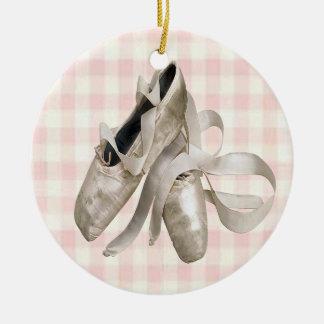 Zapatos de la bailarina adorno redondo de cerámica