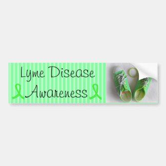 Zapatos de la conciencia de la enfermedad de Lyme Pegatina Para Coche