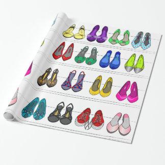 zapatos de la moda papel de regalo