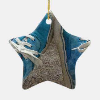 zapatos de las furgonetas azules adorno de cerámica en forma de estrella