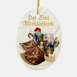 Zapatos de madera Het Sint Nicolaasfeest - orname Adorno Para Reyes