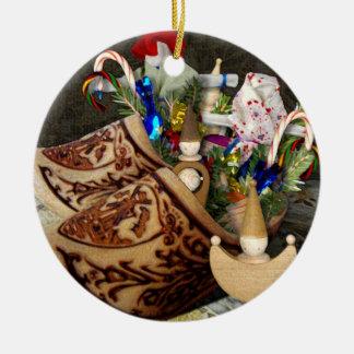 Zapatos de madera para Het Sint Nicolaasfeest - Adorno Redondo De Cerámica