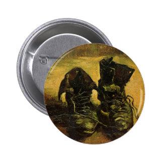 Zapatos de Vincent van Gogh Chapa Redonda De 5 Cm