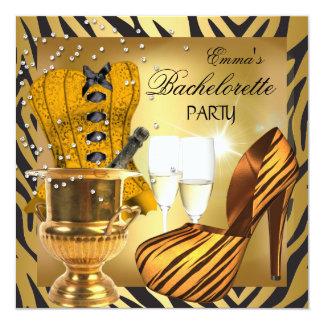 Zapatos del corsé del negro del oro del fiesta de anuncio