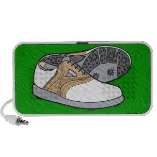 zapatos del golf altavoces
