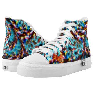 Zapatos del top del alto de Zipz del fractal,
