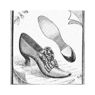 Zapatos del vintage impresión en tela