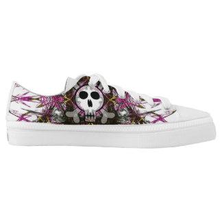 Zapatos góticos rosados del fractal del cráneo