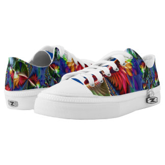 Zapatos impresos fractal polinesio