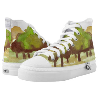Zapatos impresos superiores de Treeline hola