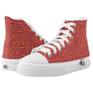 Zapatos impresos superiores del choque hola