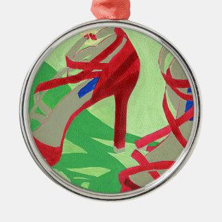 Zapatos rojos ornamentos de navidad