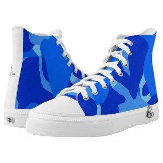Zapatos tenis azules del Hola-Top de Camo