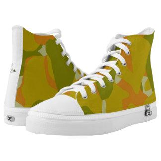 Zapatos tenis del Hola-Top de la luz verde de Camo