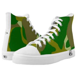 Zapatos tenis oscuras verdes del Hola-Top de Camo
