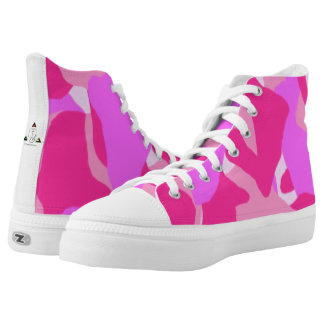 Zapatos tenis rosadas del Hola-Top de Camo