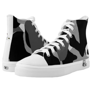 Zapatos tenis superiores negras de Camo hola