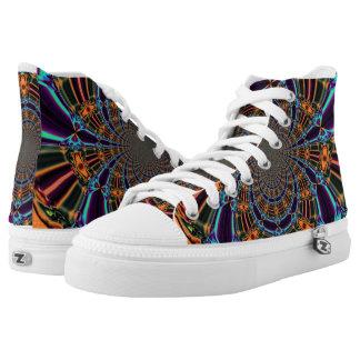 Zapatos unisex de Zipz, fractal abstracto del Web