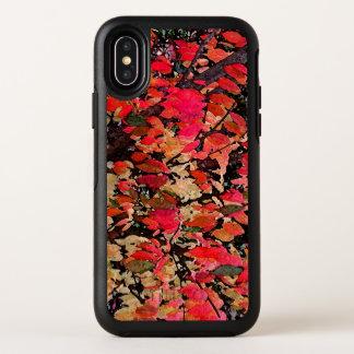 Zarza ardiente roja abstracta del otoño