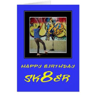 ZAZ254 feliz cumpleaños Sk8er Tarjeta De Felicitación