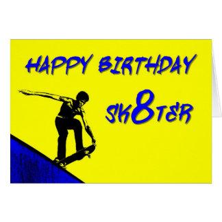 ZAZ256 feliz cumpleaños Sk8ter Tarjeta De Felicitación