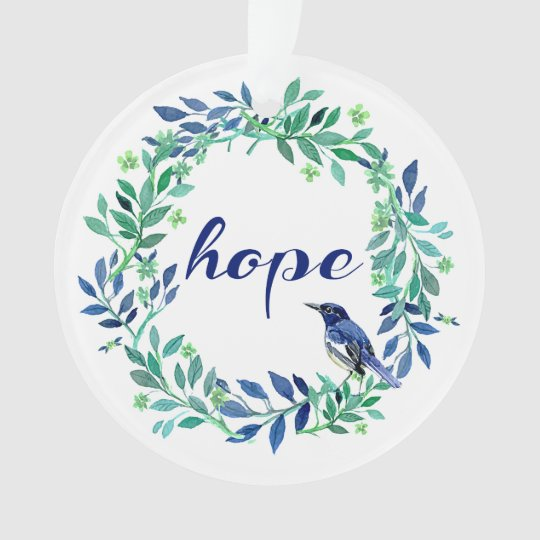 """Zen, cita inspirada de la """"esperanza"""" adorno"""
