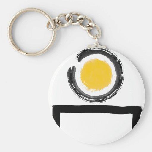 Zen en mi logotipo del escritorio llaveros
