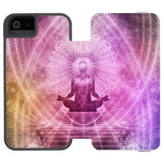 Zen espiritual de la meditación de la yoga funda cartera para iPhone 5 watson