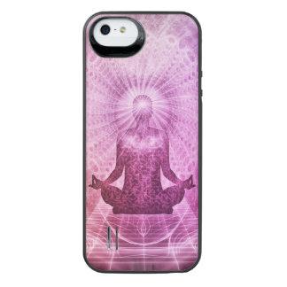 Zen espiritual de la meditación de la yoga funda con batería para iPhone SE/5/5s