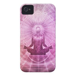 Zen espiritual de la meditación de la yoga funda para iPhone 4