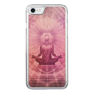 Zen espiritual de la meditación de la yoga funda para iPhone 8/7 de carved