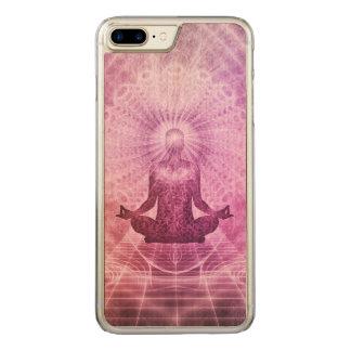 Zen espiritual de la meditación de la yoga funda para iPhone 8 plus/7 plus de carved