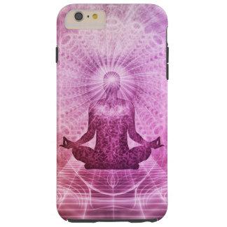 Zen espiritual de la meditación de la yoga funda resistente iPhone 6 plus