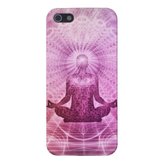 Zen espiritual de la meditación de la yoga iPhone 5 carcasa